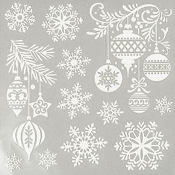 Vianočné okenné obtlačky snehová vločka, HTH