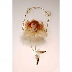 Vianočný anjel Chattie na hojdačke, 30 cm