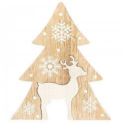 Vianočný drevený stromček Renna, hnedá