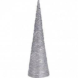 Vianočný drôtený LED kužeľ Metallicy strieborná, 16,5 x 60 cm