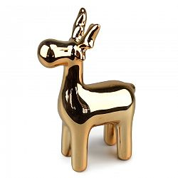 Vianočný keramický Sob, zlatá