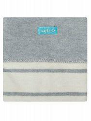 WOMAR Detská bavlnená deka Zaffira šedá
