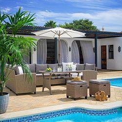 Loungegarnitur Puerto Rico In Braun/beige